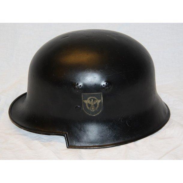 Tysk stålhjelm M 34 - Feuerschutzpolizei